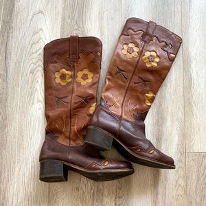 Holly Floral Cowboy Boots by Lucky Brand- Sz. 7 W!